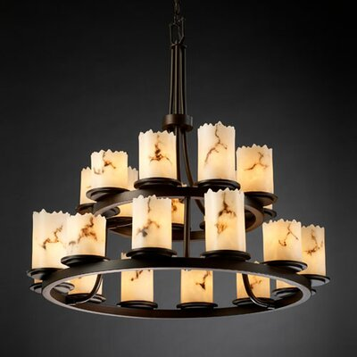 Justice Design Group LumenAria Dakota 21 Light Chandelier