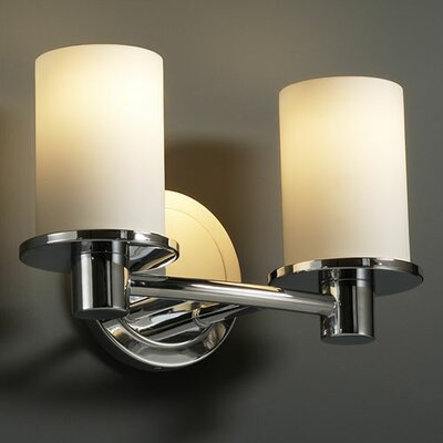 Justice Design Group Fusion Rondo 2 Light Bath Vanity Light