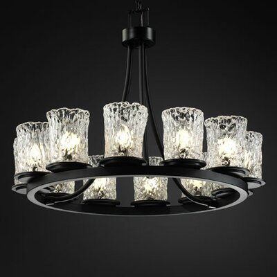Justice Design Group Veneto Luce Dakota 12 Light Chandelier