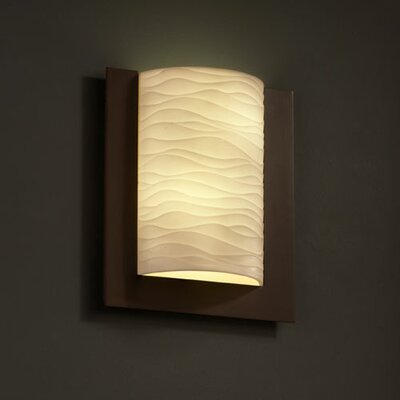 Justice Design Group Porcelina Framed 2 Light Wall Sconce