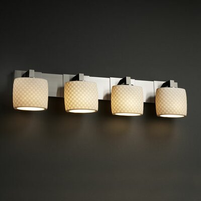 Justice Design Group Limoges Modular 4 Light Bath Vanity Light