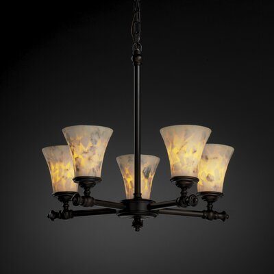 Tradition Alabaster Rocks 5 Light Chandelier