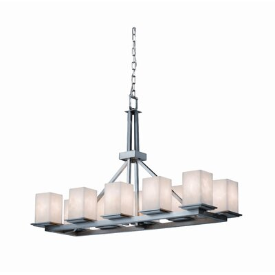 Montana Clouds 10 Light Rectangular Chandelier