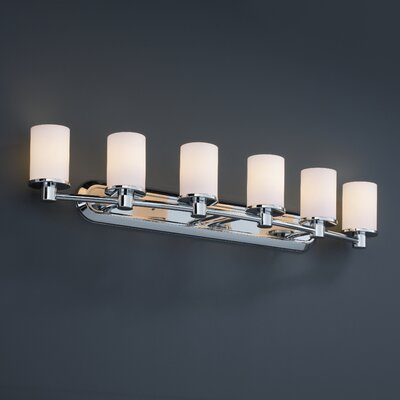 Justice Design Group Fusion Rondo 6 Light Bath Vanity Light