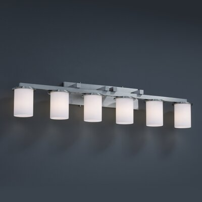 Justice Design Group Fusion Dakota 6 Light Bath Vanity Light