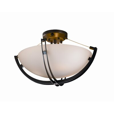 Justice Design Group Crossbar Fusion 3 Light Semi Flush Mount