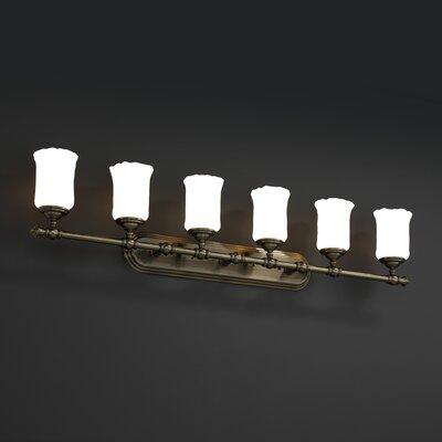 Justice Design Group Tradition Veneto Luce 6 Light Bath Vanity Light