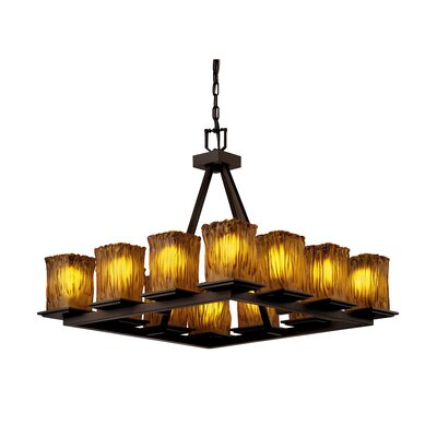 Justice Design Group Montana Veneto Luce 12 Light Short Chandelier