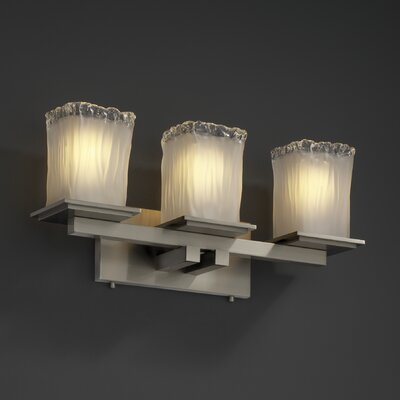 Justice Design Group Montana Veneto Luce 3 Light Bath Vanity Light