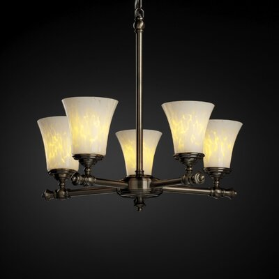 Justice Design Group Fusion Tradition 5 Light Chandelier