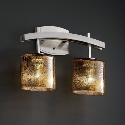 Justice Design Group Fusion Archway 2 Light Bath Vanity Light