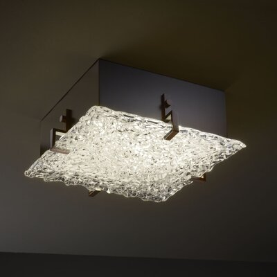 Justice Design Group Veneto Luce Clips Four Light Square Flush Mount