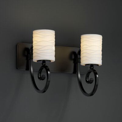 Justice Design Group Limoges Victoria 2 Light Bath Vanity Light
