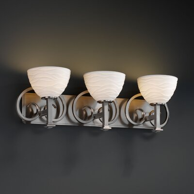 Justice Design Group Limoges Heritage 3 Light Bath Vanity Light