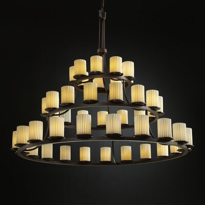Justice Design Group Limoges Dakota 45 Light Chandelier