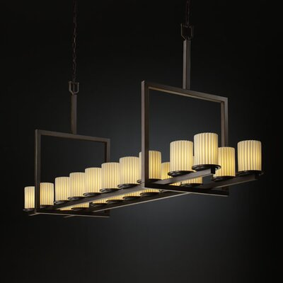 Justice Design Group Limoges Dakota 20 Light Chandelier