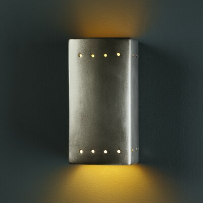 Justice Design Group Ambiance Open Top and Bottom 1 Light Wall Sconce