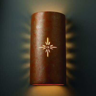 Justice Design Group Sun Dagger Big 2 Light Outdoor Wall Sconce