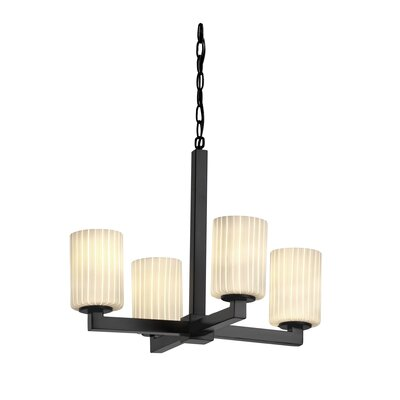 Justice Design Group Modular Fusion 4 Light Chandelier