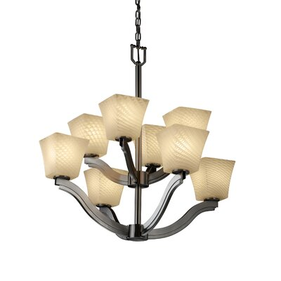 Justice Design Group Fusion Bend 8 Light Chandelier