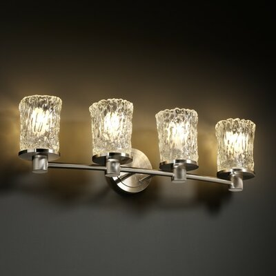 Justice Design Group Veneto Luce Rondo 4 Light Bath Vanity Light