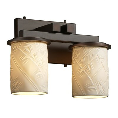 Justice Design Group Limoges Dakota 2 Light Bath Vanity Light