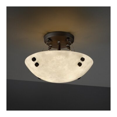 Justice Design Group Finials Clouds 2 Light Semi Flush Mount