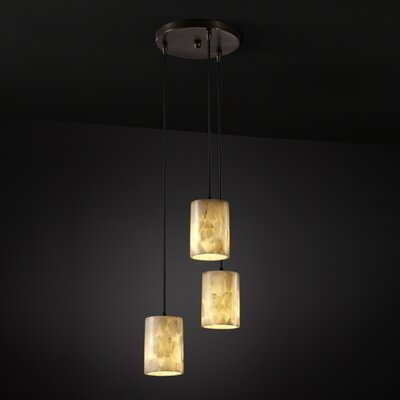 Justice Design Group Alabaster Rocks 3 Light Pendant