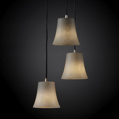 Justice Design Group Clouds 3 Light Pendant