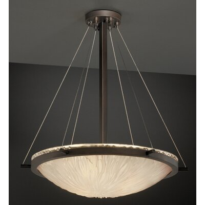 Justice Design Group Veneto Luce 3 Light Inverted Pendant