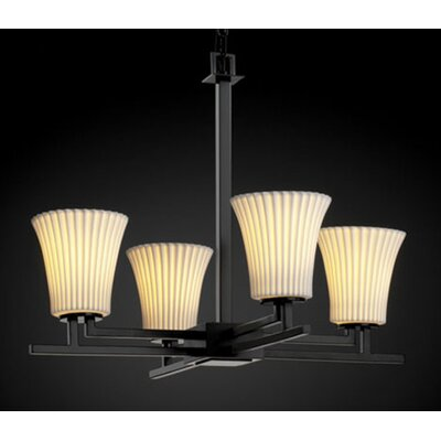 Justice Design Group Aero Limoges 4 Light Chandelier
