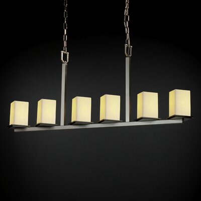 Justice Design Group CandleAria Montana 6 Light Chandelier