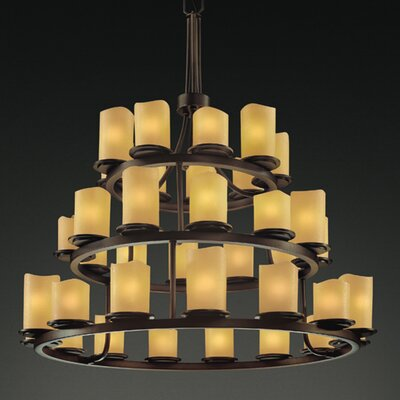 Justice Design Group CandleAria Dakota 40W 36 Light Chandelier