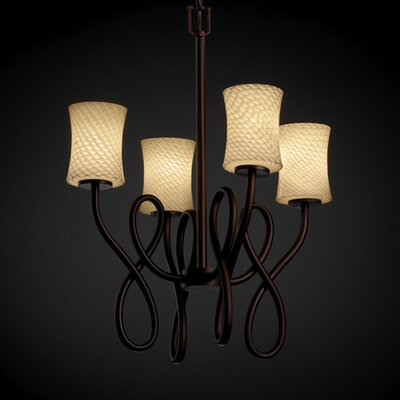 Justice Design Group Capellini Fusion 4 Light Chandelier