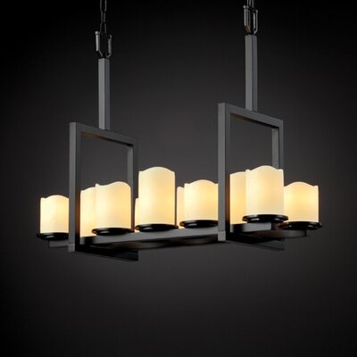 Justice Design Group Dakota CandleAria 10 Light Bridge Chandelier