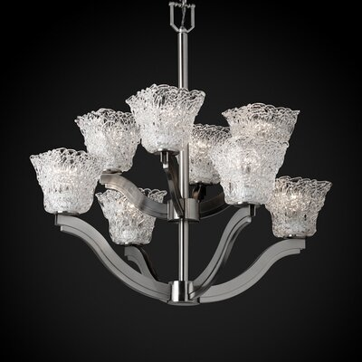 Veneto Luce Bend 8 Light Chandelier