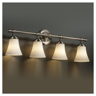 <strong>Justice Design Group</strong> Fusion Tradition 4 Light Bath Vanity Light