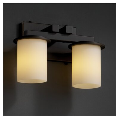 <strong>Justice Design Group</strong> Fusion Dakota 2 Light Bath Vanity Light