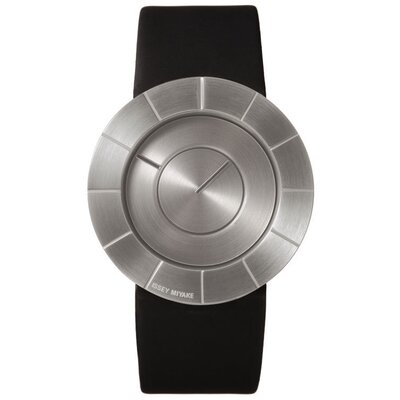 Issey Miyake To Men's Watch with Black Rubber Band and Silver Case