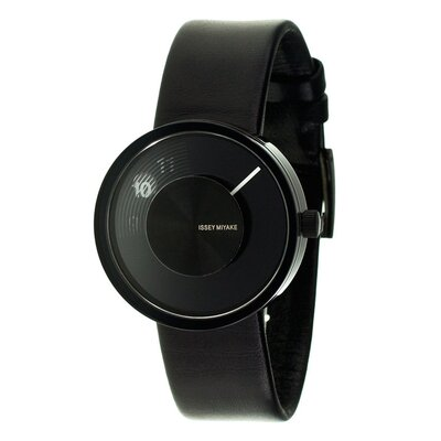 Issey Miyake Vue Yves Behar Watch with Black Leather Band