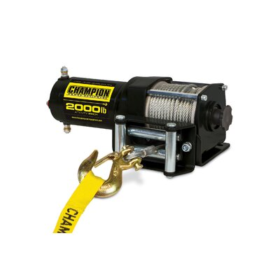 Champion Power Equipment 2000 lbs ATV/UTV Winch Kit