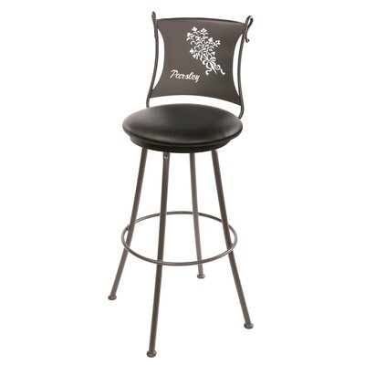 "Stone County Ironworks Parsley 25"" Swivel Counter Height Barstool"