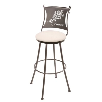 "Stone County Ironworks Rosemary 25"" Swivel Counter Height Barstool"