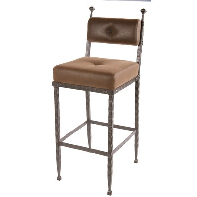 "Stone County Ironworks Forest Hill 25"" Padded Back Counter Height Barstool"