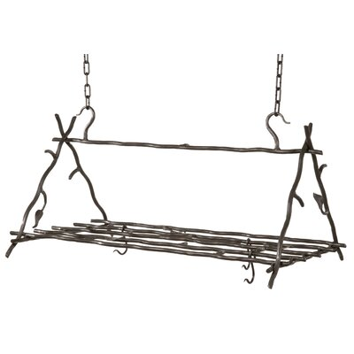 Stone County Ironworks Sassafras Triangle Hanging Pot Rack
