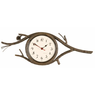 Stone County Ironworks Pine Wall Clock
