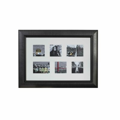 Mikasa 6 Opening Square Ribbon Collage Trip Picture Frame