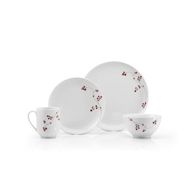 Mikasa Gourmet Basics Red Berries 16 Piece Dinnerware Set