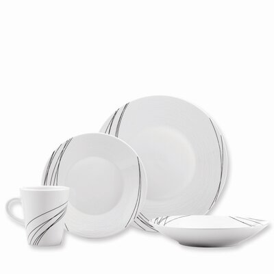 Mikasa Gourmet Basics Unraveled 16 Piece Dinnerware Set