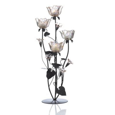 Mikasa Metal and Glass Candelabra